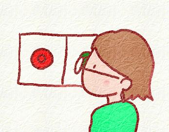 赤と緑の背景で